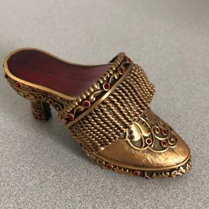 BEREBI LIMITED EDITION TRINKET SHOES GOLD RED